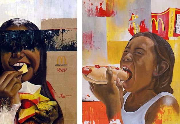 food art paintings